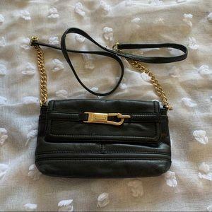 Vintage Calvin Klein, Black  Leather, Chain Link